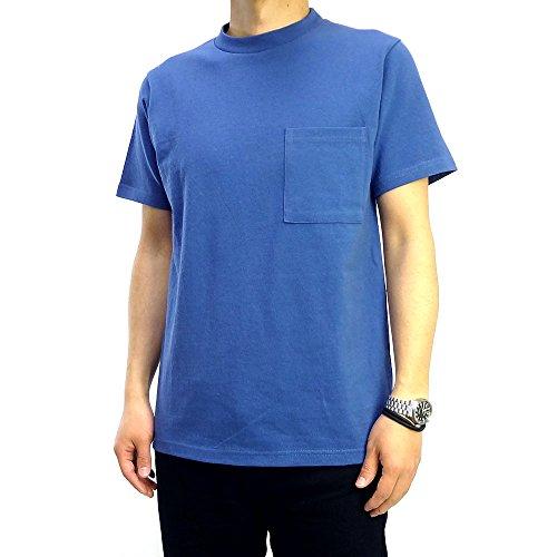 (グッドウェア) Goodwear USAコットン無地ポケットTシャツ (M, ブルー)
