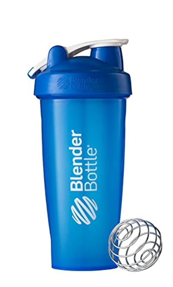 姓スリップ入学するBlender Bottle - ループ全色青で古典的なシェーカー ボトル - 28ポンド Sundesa で