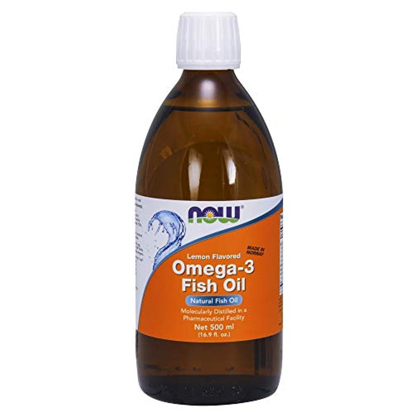 従来のカフェ有名人[海外直送品] ナウフーズ  Omega-3 Fish Oil Lemon Lemon 16.9 oz