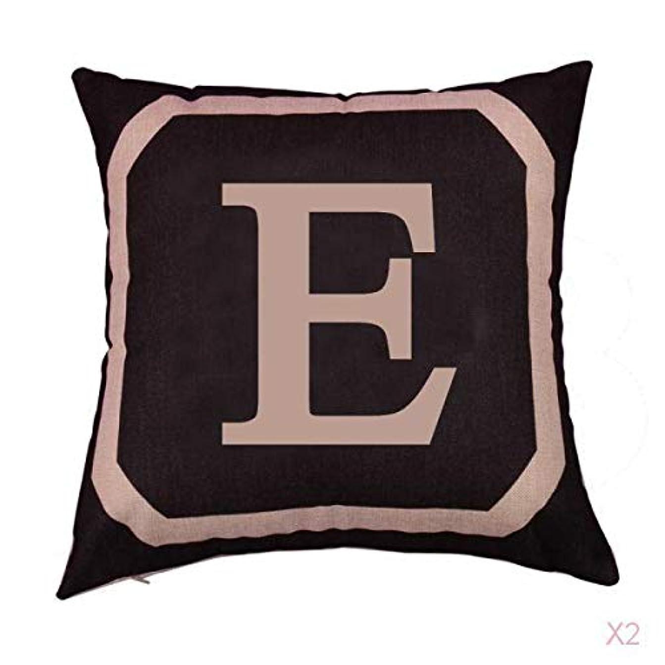 FLAMEER 正方形の綿のリネンスローピローケース腰クッションカバーベッドソファ装飾電子