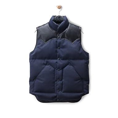 Wool Serge Down Vest: Navy / Black