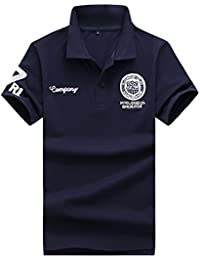 KMAZN ポロシャツ メンズ 薄手 半袖 Tシャツ 刺繍 ワッペン ニット シンプル ゴルフウェア 春 夏 秋