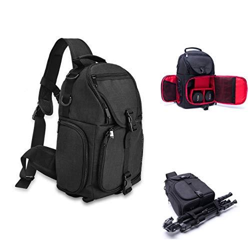 UNHO カメラバッグ 一眼レフ スリングバッグ ワンショルダー カメラリュック メンズ/レディース 旅行/アウトドア 2気室
