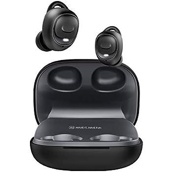 [2019進化版 Bluetooth5.0 HiFi高音質] HAVIT Bluetoothイヤホン ワイヤレスイヤホン Bluetooth 完全ワイヤレス イヤホン IPX5防水防汗 自動ペアリング ブルートゥース 左右分離型 スポーツイヤホンSiri対応 超大容量充電ケース付き 片耳&両耳とも対応iPhone/ipad/Android適用 I93黑