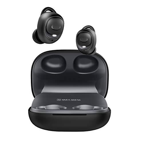 [2019進化版 Bluetooth5.0 HiFi高音質] HAVIT Bluetooth イヤホン ワイヤレスイヤホン Bluetooth 完全ワイヤレス イヤホン IPX5防水防汗 自動ペアリング ブルートゥース 左右分離型 スポーツイヤホンSiri対応 超大容量充電ケース付き 片耳両耳とも対応iPhone/ipad/Android適用 I93黑