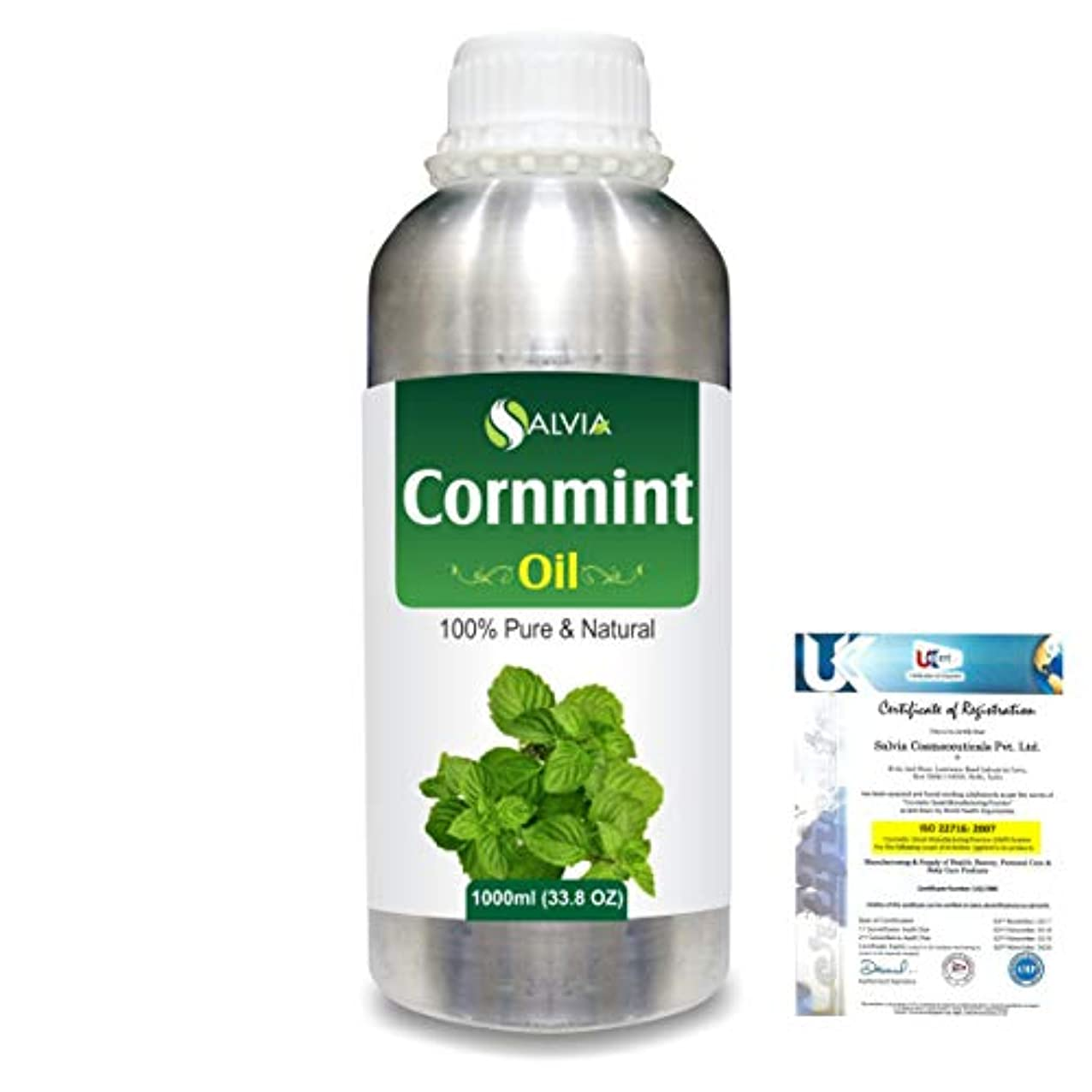 憂鬱なアヒル柔らかいCornmint Oil (Mentha arvensis) 100% Natural Pure Essential Oil 1000ml/33.8fl.oz.