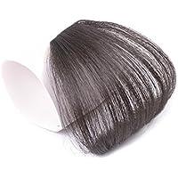 P&Z 前髪ウィッグ レディース 人毛100% ぱっつん 総手植え 女性用 かつら 空気感 ふんわリ 超薄型 サイドなし 可愛い 小顔 つけ毛 wig