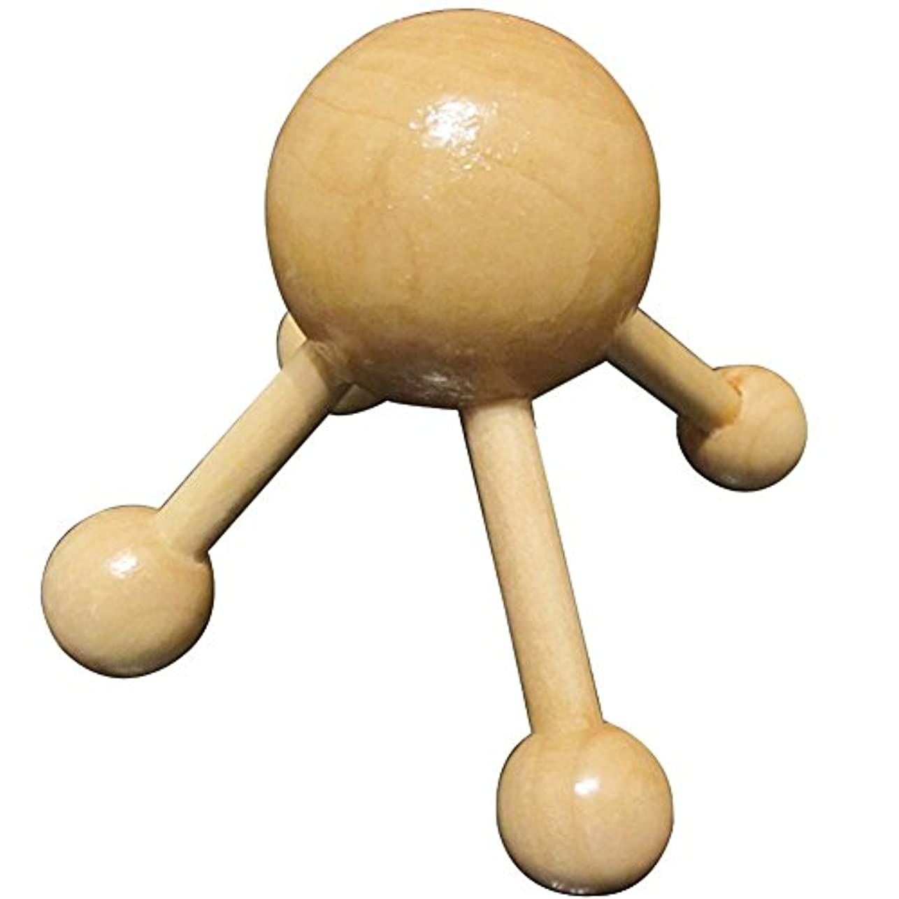 神経衰弱体操選手バウンドHrph ボディマッサージャー 頭用 木製