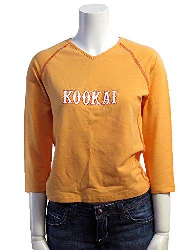 KOOKAI(クーカイ) カットソー フランスT3 七分袖 オレンジ ラグラン ロゴVネック ストレッチTシャツ レディース #kood41op-T3 [並行輸入品]