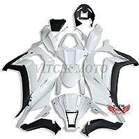 VITCIK (フェアリングキット 対応車種 カワサキ Kawasaki ZX-10R ZX10R Ninja 2011 2012 2013 2014 2015) プラスチックABS射出成型 完全なオートバイ車体 アフターマーケット車体フレーム 外装パーツセット(無塗装) ABB1