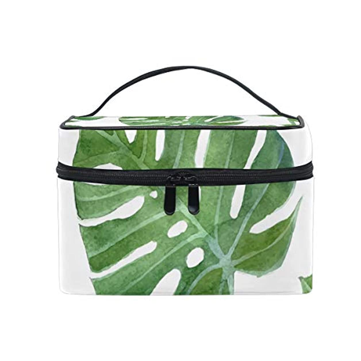 証言あざ下に向けますユキオ(UKIO) メイクポーチ 大容量 シンプル かわいい 持ち運び 旅行 化粧ポーチ コスメバッグ 化粧品 ハワイ 葉 緑 レディース 収納ケース ポーチ 収納ボックス 化粧箱 メイクバッグ
