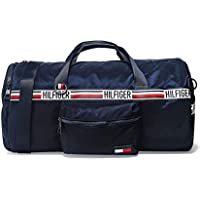 Tommy Hilfiger Men's Signature Tape Convertible Duffle Bag Navy