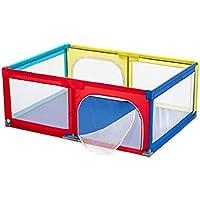 子供の子供の障壁ドア/ジップ、6パネルと折りたたみポータブルルームデバイダ (色 : Playpen and mat)