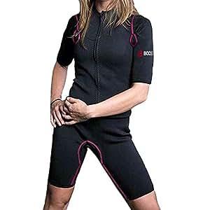 サウナスーツ ネオプレン 脂肪燃焼 大量発汗 デトックス [密着伸縮で運動強度を適切に向上]インナーで利用可 減量 水洗可 (パープル, S)