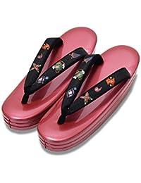 [ 京都きもの町 ] 礼装 草履単品 宝尽しの刺繍鼻緒×ラズベリーピンク色台 Lサイズ