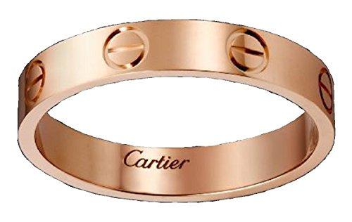 CARTIER カルティエ リング LOVE ウェディング リング 指輪 (7, ピンクゴールド)