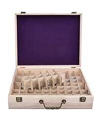 エッセンシャルオイル収納ケース 精油収納ボックス 木製 72本収納可能 大容量 取り外し可能なグリッド 5ml?10ml?15ml?115mlの精油ボルトに対応 junexi