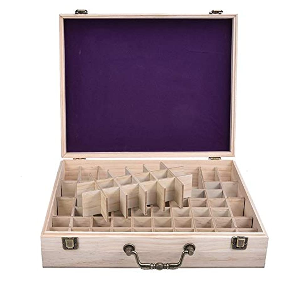 プライバシー高音なかなかエッセンシャルオイル収納ケース 精油収納ボックス 木製 72本収納可能 大容量 取り外し可能なグリッド 5ml?10ml?15ml?115mlの精油ボルトに対応 junexi