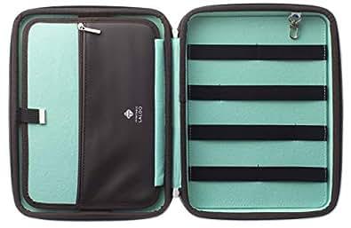 LALOO(ラルー) CLEVER PC周辺 スマホ タブレット iPad ガジェット 小物整理 収納 クラッチバッグ バッグインバッグ パリ発 (茶×ミント)