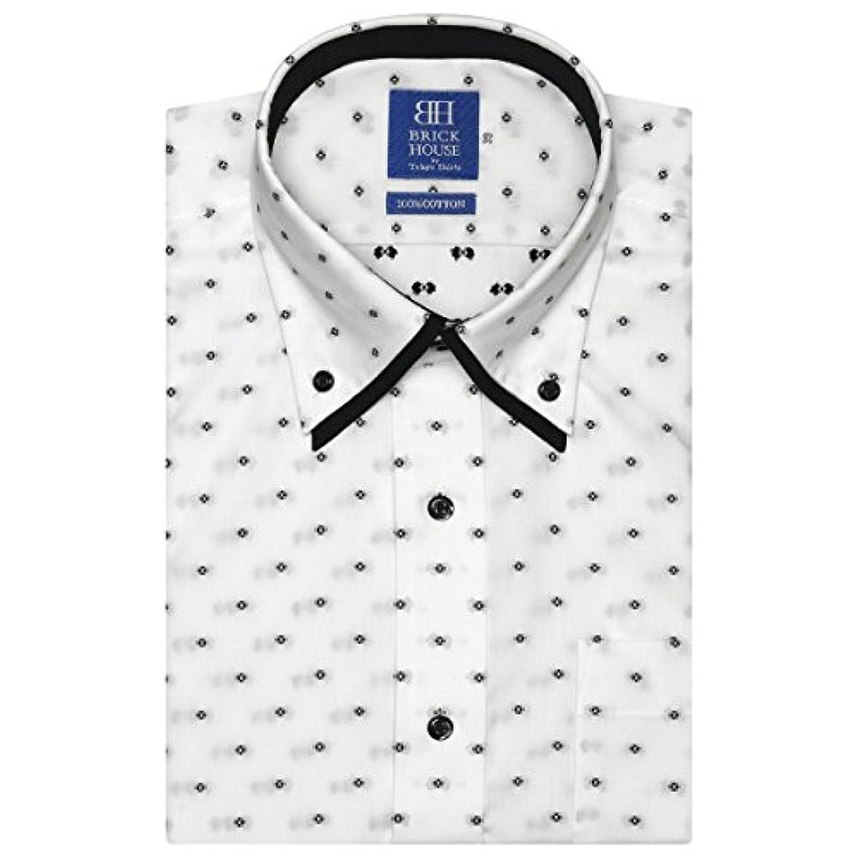 ボイドマエストロハンバーガーブリックハウス ワイシャツ 半袖 形態安定 ボタンダウン ダブルカラー 綿100% 新体型 メンズ BM018210AA45B4A-30