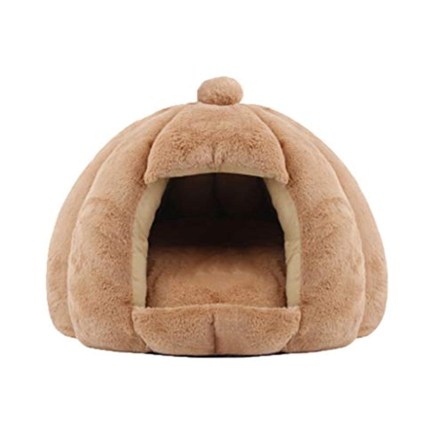 グロー花輪抱擁小型犬猫、暖かい犬のベッド、猫のためのコージー洞窟の巣のためのペットテント、洞窟ベッド,ピンク