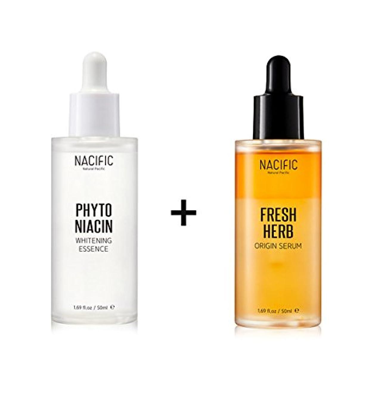 のぞき見低下プラス[Renewal] NACIFIC Fresh Herb Origin Serum 50ml + Phyto Niacin Whitening Essence 50ml/ナシフィック フレッシュ ハーブ オリジン セラム...
