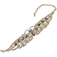 Holylove 4 Color Chunky Choker Shiny Bling Crystal Necklace for Women Jewelry Wedding Party Daily Accessories 1 Piece with Gift Box