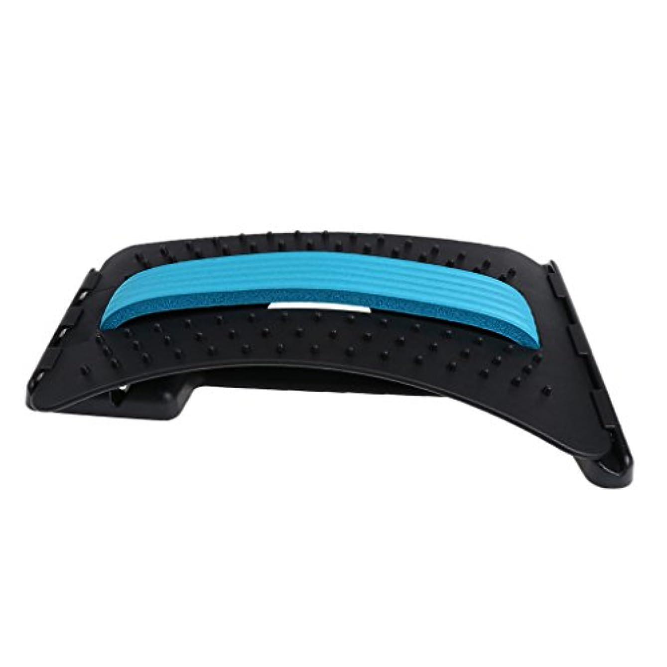 みすぼらしい香港別れるバックストレッチャー 3段階調整 ABS製 リラックス ユニーク デザイン 3色選べる - 青