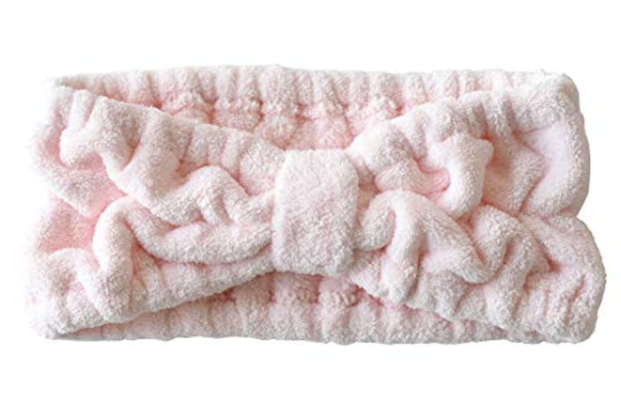 ローズなだめる領域ヘアバンド フリーサイズ ラベンダー ブルーグリーン ピンク (ピンク)
