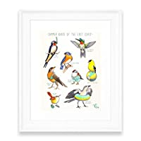 society6夏Birds of the East Coast額入りプリント MINI-8x10 s6-4575893p21a12v53a13v54