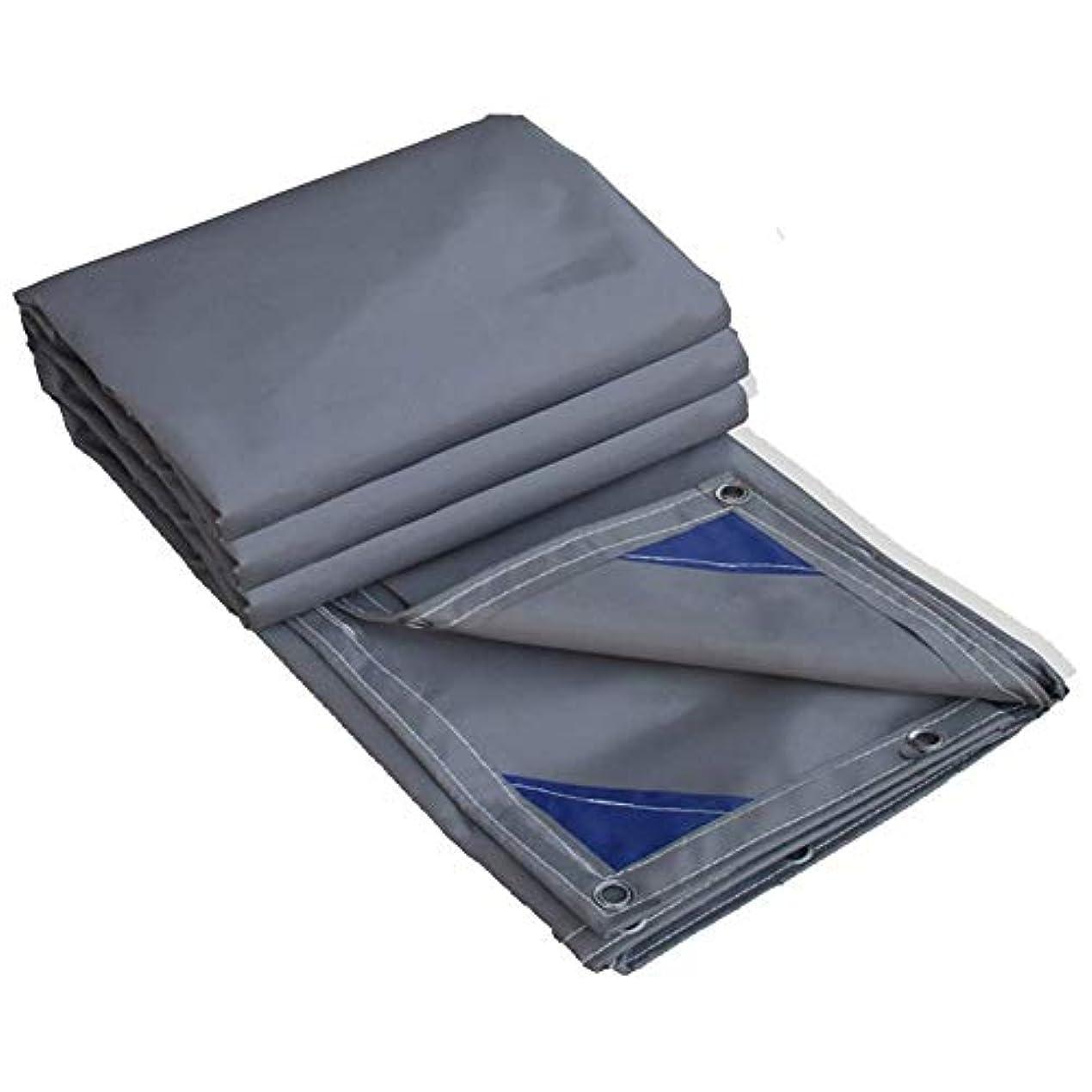 祝うすぐに骨折ZX タープ ターポリン厚くする防水布屋外のパティオシェード高強度ナイフ削り布四季のユニバーサル テント アウトドア (Color : Gray, Size : 3x4m)