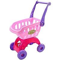 COMVIP 子供 ままごと スーパーカート ショッピングカート ギフト 知育玩具 手押し車 組み立て式 女の子 男の子 買い物 タイプA-ピンク