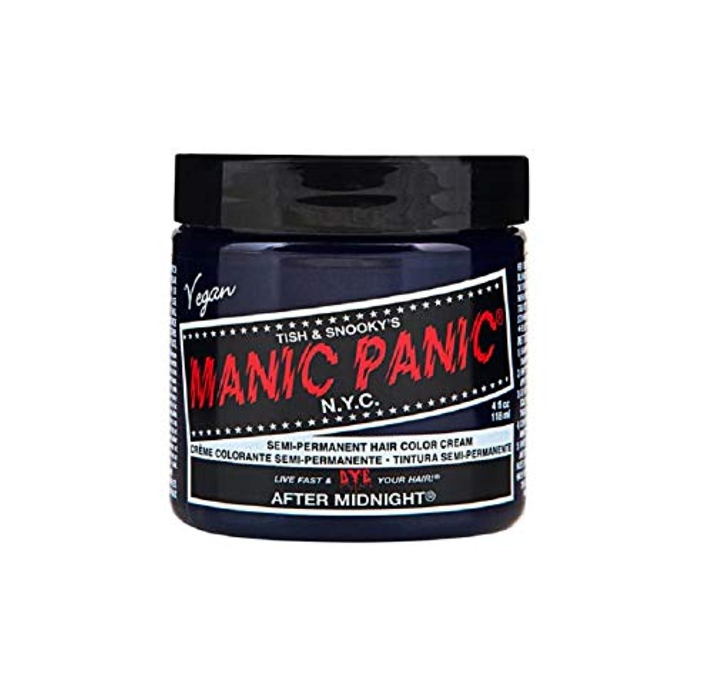 早くを通して精通したマニックパニック MANIC PANIC ヘアカラー 118mlアフターミッドナイト ヘアーカラー