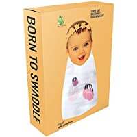Extra Large Receiving Blanket Soft Muslin Swaddling Baby Wrap Nursery Swaddle - BORN TO SWADDLE [並行輸入品]
