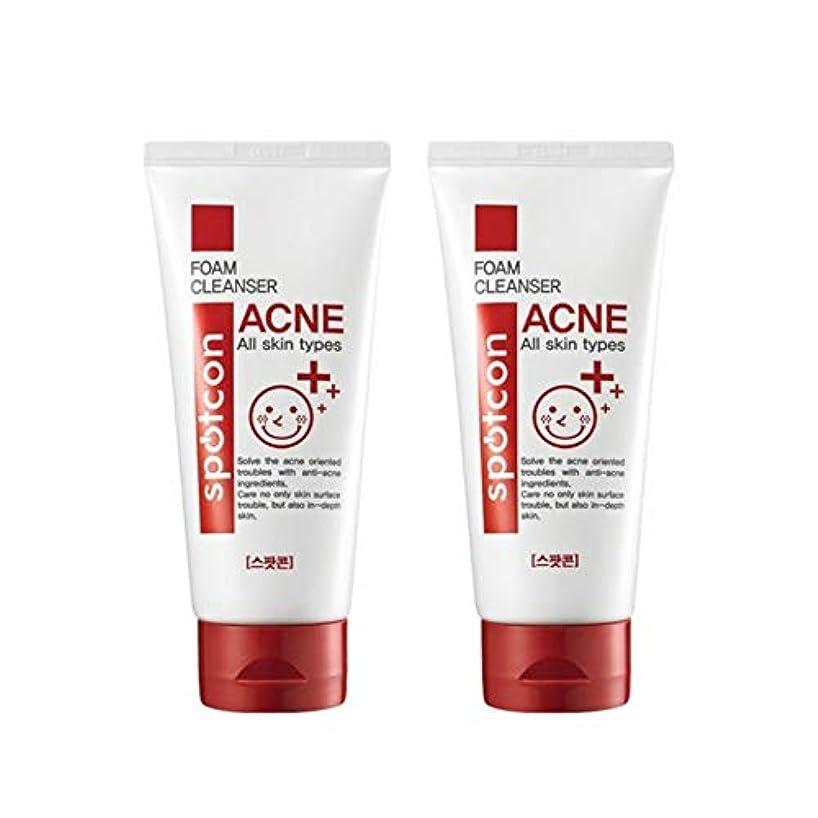 ミュート敷居根絶するスポットコーンアクネフォームクレンザー120mlx2本セットにきび緩和韓国コスメ、Spotcon Acne Foam Cleanser 120ml x 2ea Set Korean Cosmetics [並行輸入品]