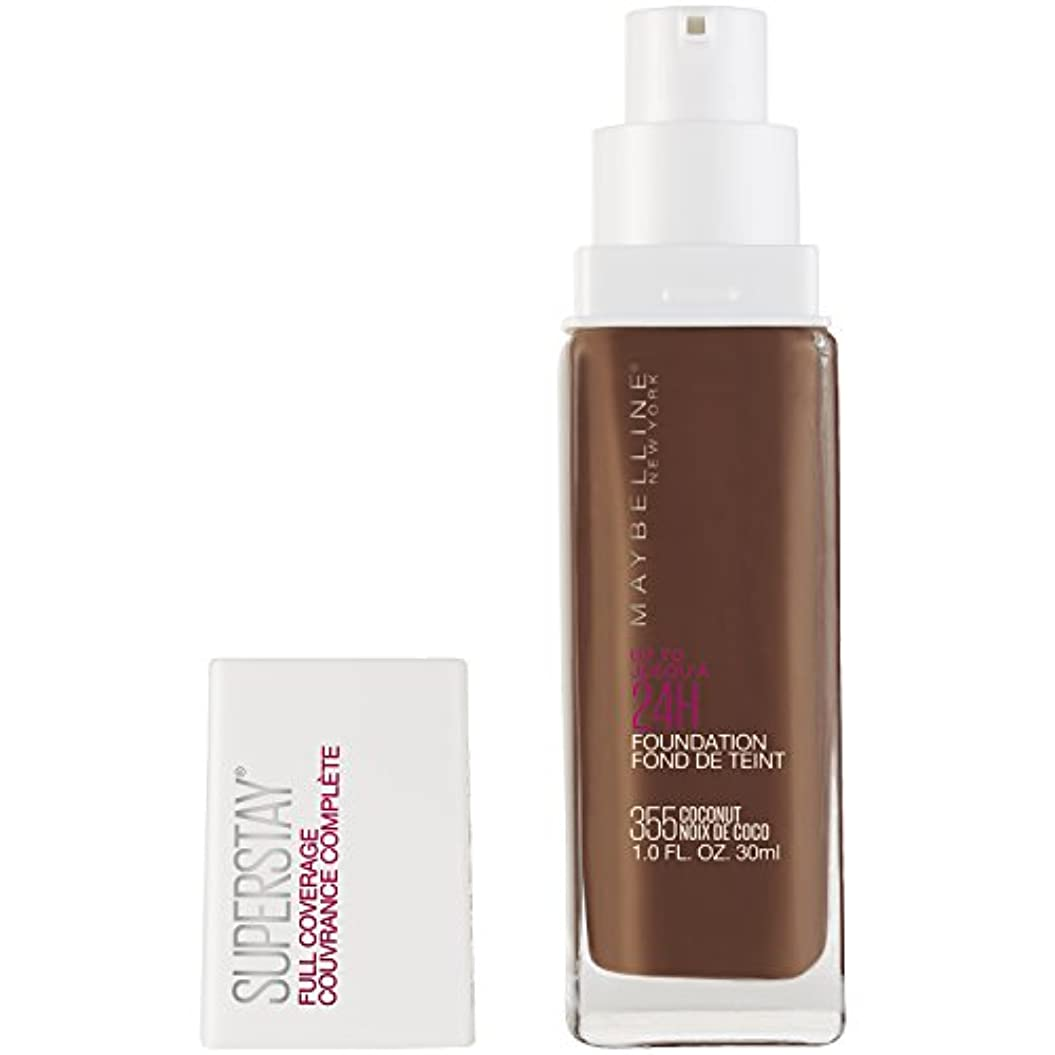ひねり四分円うめき声MAYBELLINE Superstay Full Coverage Foundation - Coconut 355 (並行輸入品)