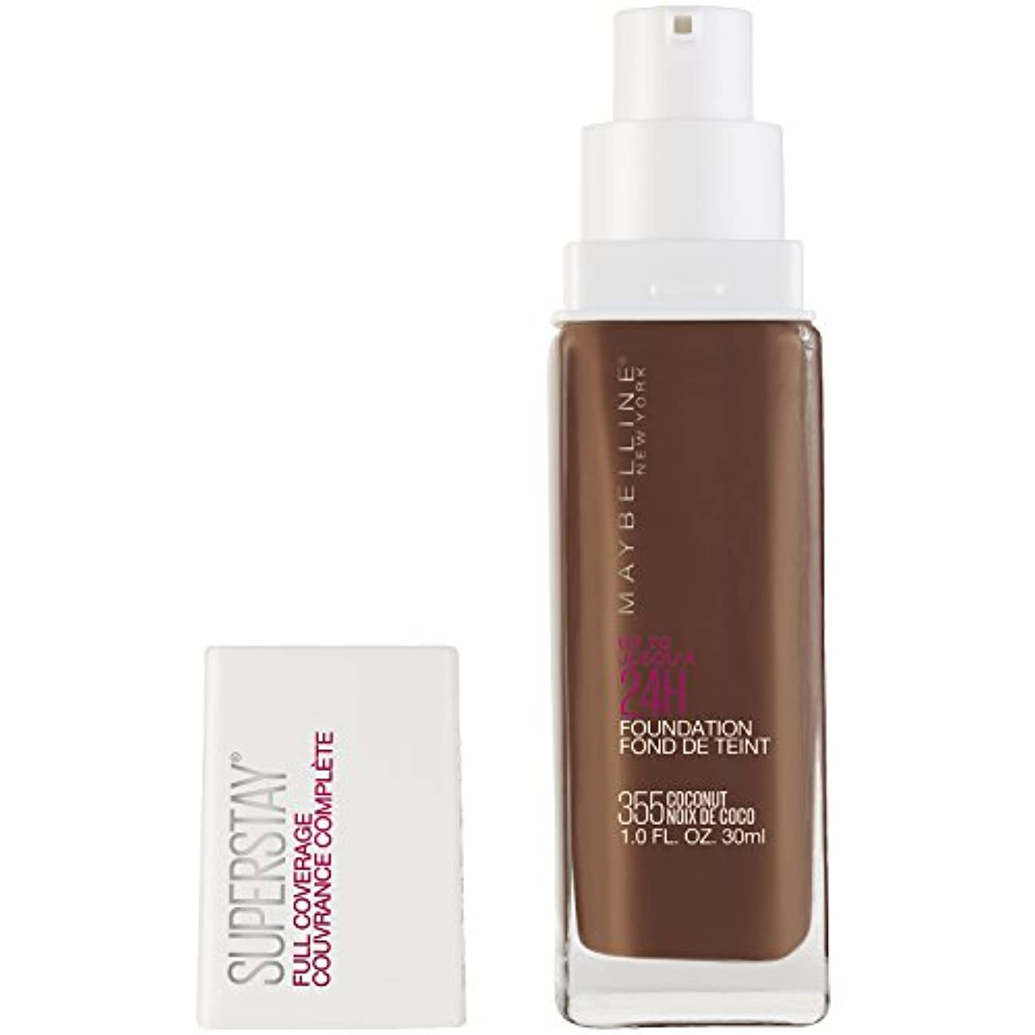 MAYBELLINE Superstay Full Coverage Foundation - Coconut 355 (並行輸入品)