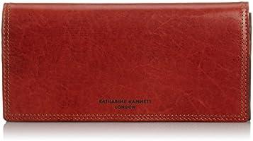[キャサリンハムネットロンドン] 財布 国産アンティーク調レザー Taze ターゼ 長財布 490-56005 レンガ