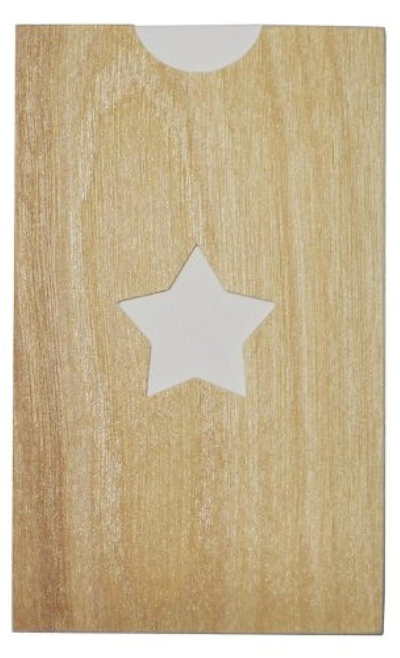 シエスタラベル影響を受けやすいですyuica(ユイカ) 香りのカード /星(ヒノキのシートケース+ムエット紙10枚)