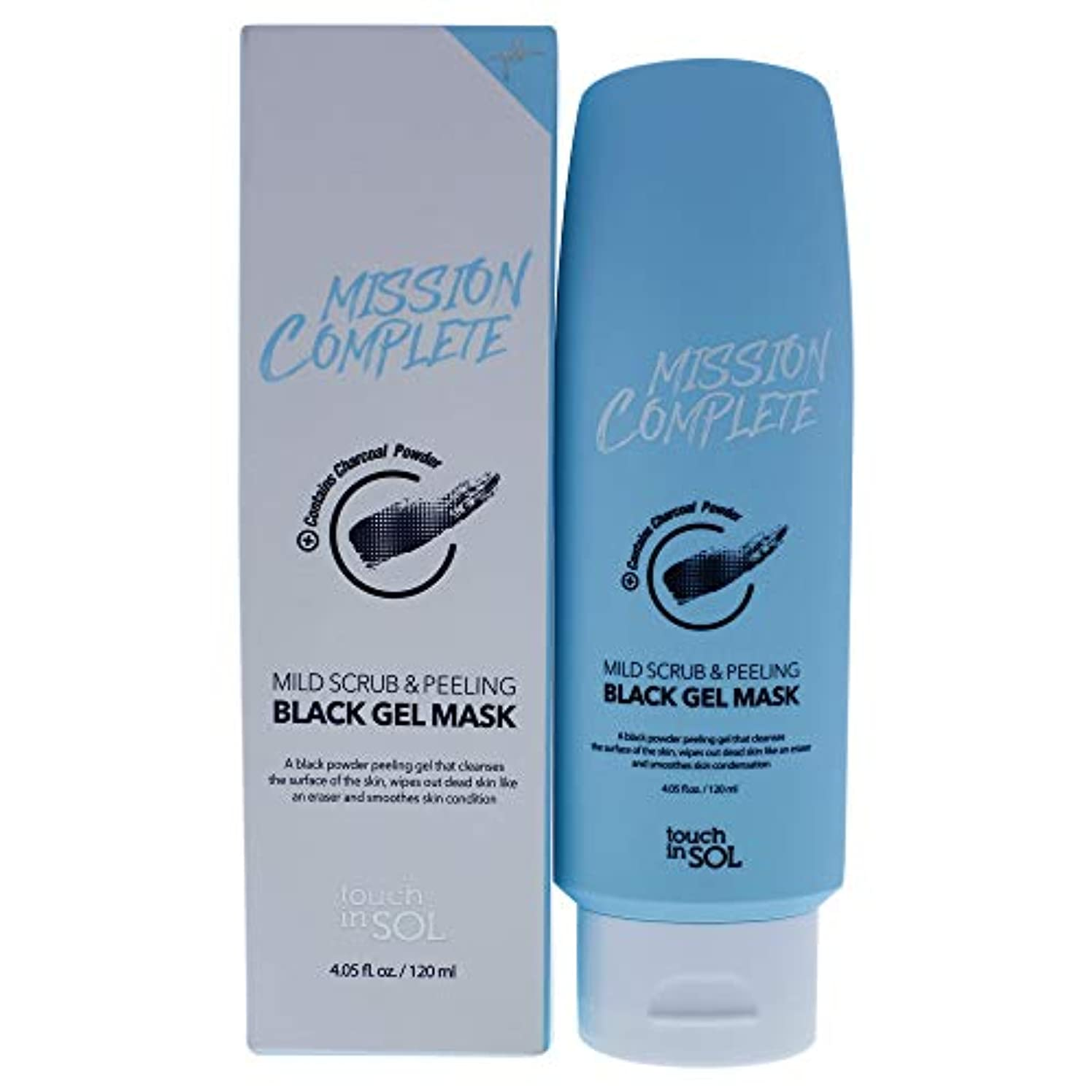 大どう?あいまいMission Complete Mild Scrub and Peeling Black Gel Mask