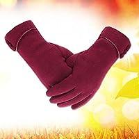 GMM2 暖かい手袋 ドライビングレザー手袋 ファッション レディース 暖かいボタン手袋 冬 暖かい シンプル手袋 As description 3