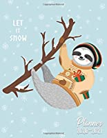 Let It Snow Planner 2020-2024: 5 Year Monthly Agenda with 60 Months Spread View | Christmas Five Year Organizer with To-Do's, Inspirational Quotes, Vision Boards, Notes & More | Pretty Sloth & Snowflakes
