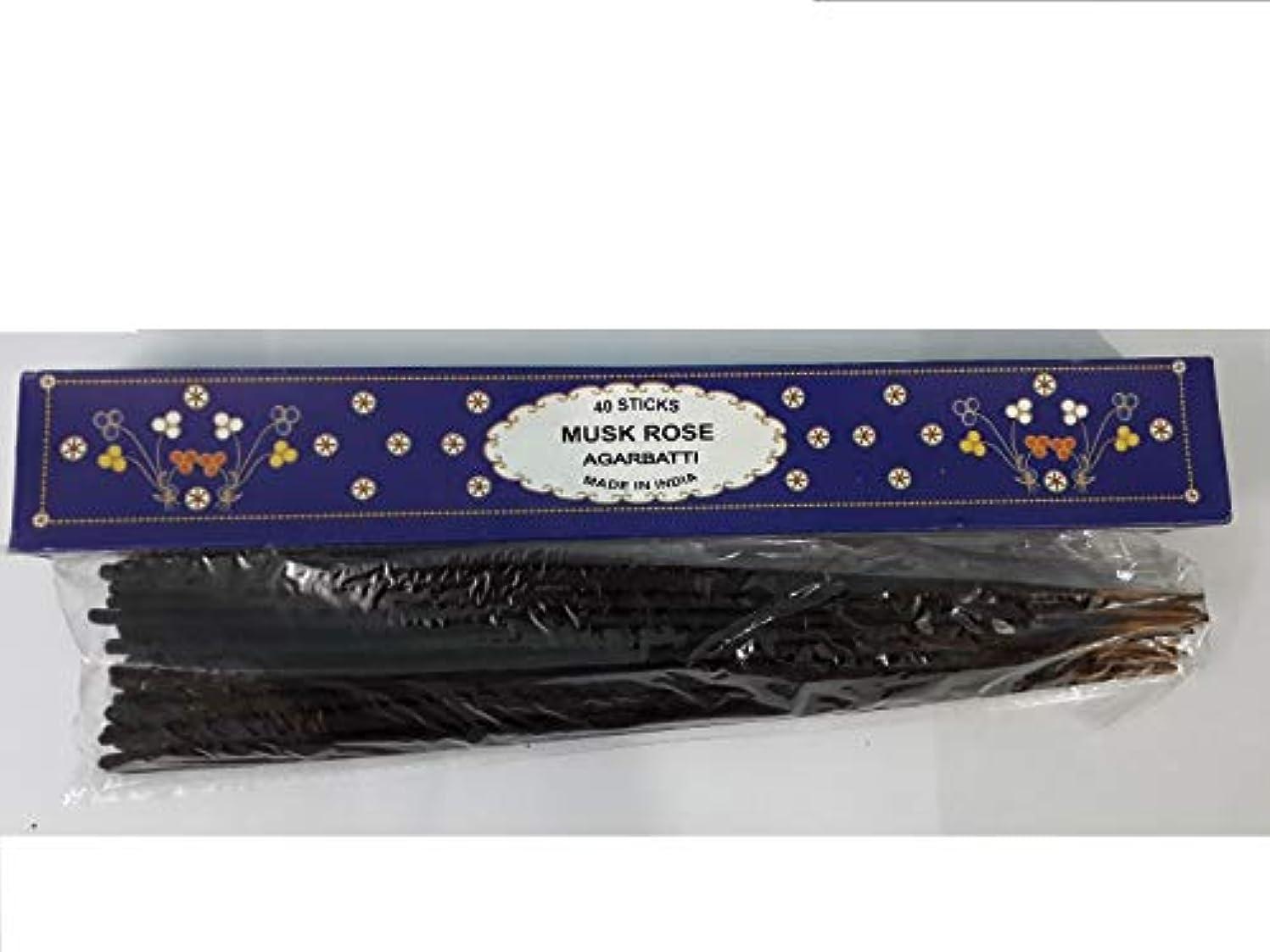 突き出すテンション静脈Musk Rose Agarbatti 40 Incense Sticks Hand Rolled Incense