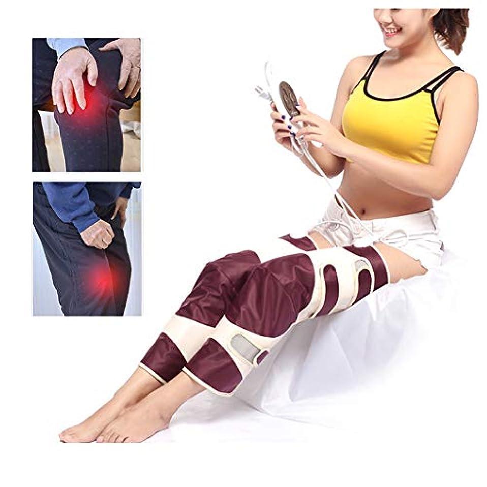 我慢するリネン完了膝の怪我、痛みを軽減するための電気加熱膝ブレースサポート - 膝温かいラップ加熱パッド - 遠赤外線治療マッサージャー