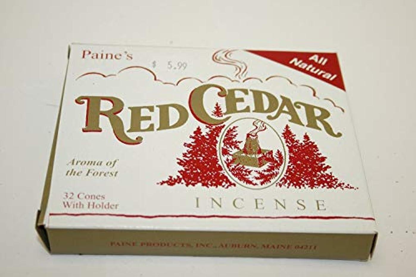 縞模様の酔う変化Incense & Burner Comes with 32 RED Cedar Cones to Burn Wood Holder Lodge Style