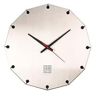 LEON (レオン) 掛け時計 デザイナーズクロック インテリア おしゃれ オシャレ かわいい 高級 ステンレス デザイン クロック シルバー Vessel Clock