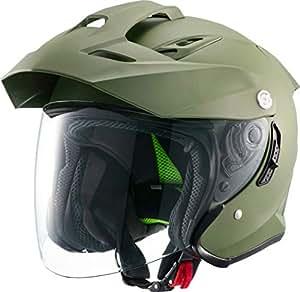 マルシン(MARUSHIN) バイクヘルメット スポーツ ジェット TE-1 マットカーキ Lサイズ MSJ1 1001625