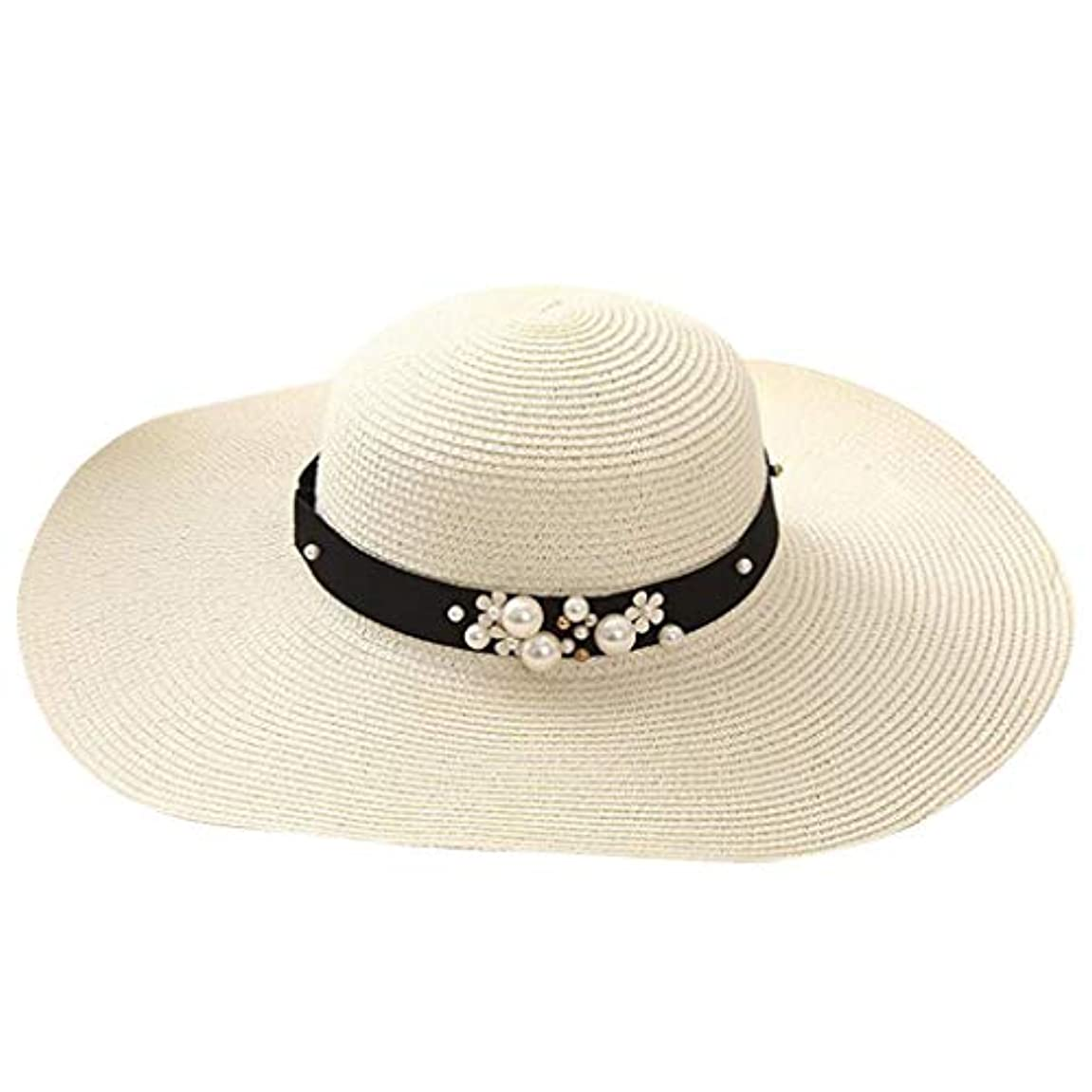 言い訳活力動機付ける漁師の帽子 ROSE ROMAN UVカット 帽子 帽子 レディース 麦わら帽子 UV帽子 紫外線対策 通気性 取り外すあご紐 サイズ調節可 つば広 おしゃれ 可愛い ハット 旅行用 日よけ 夏季 女優帽 小顔効果抜群