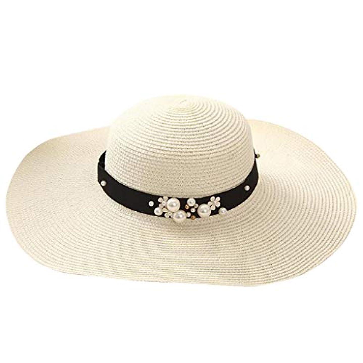 行うひどく症候群漁師の帽子 ROSE ROMAN UVカット 帽子 帽子 レディース 麦わら帽子 UV帽子 紫外線対策 通気性 取り外すあご紐 サイズ調節可 つば広 おしゃれ 可愛い ハット 旅行用 日よけ 夏季 女優帽 小顔効果抜群