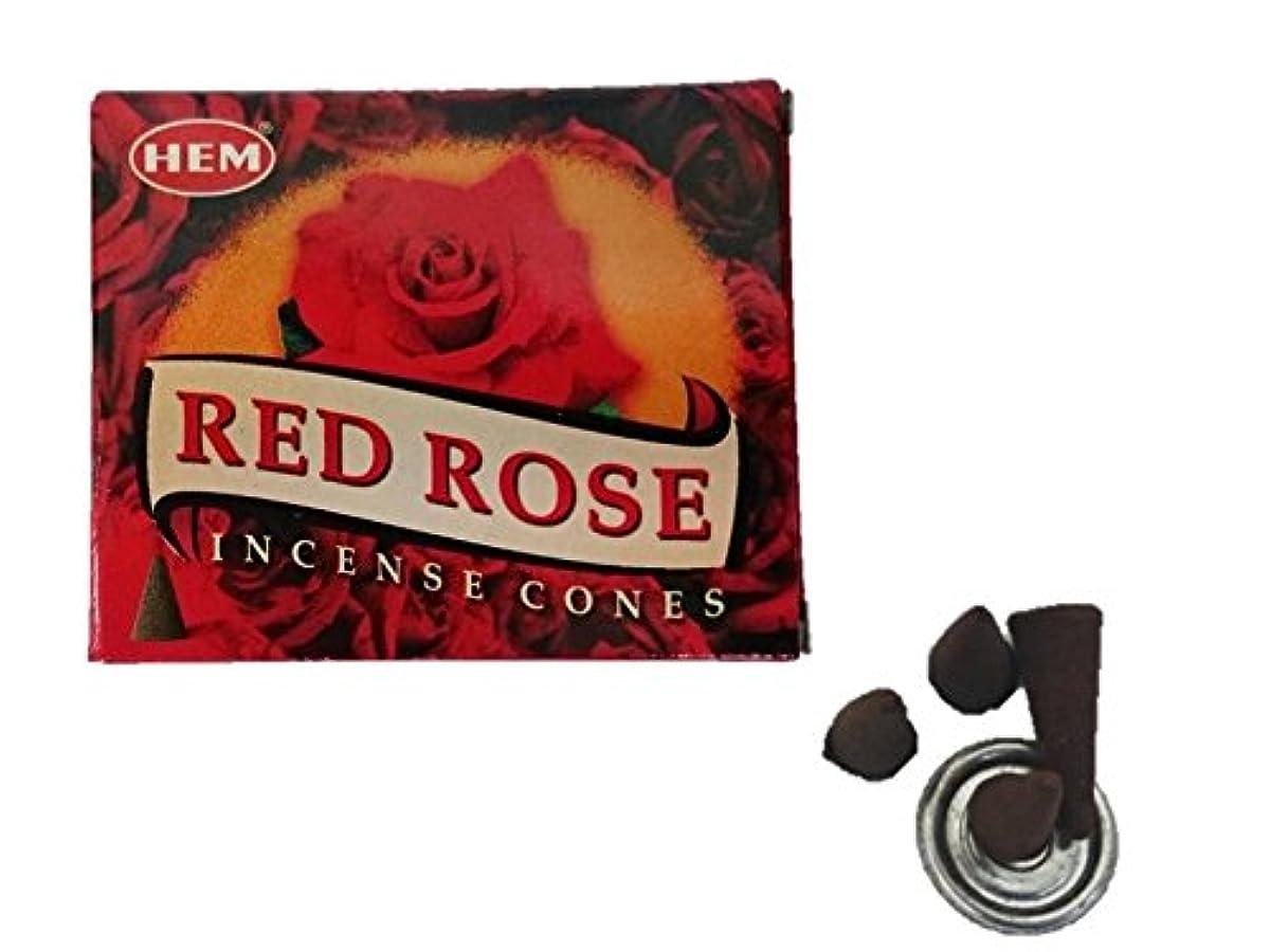 保証敵対的食事を調理するHEM(ヘム)お香 レッドローズ コーン 1箱
